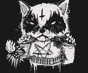 black metal kitty