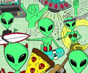 alien tumblr green