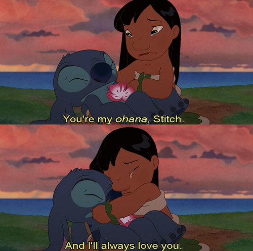 cry, lilo, lilo and stitch, love, ohana - inspiring picture on Favim.com