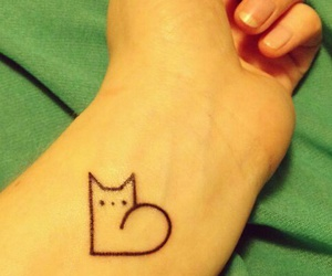 cat tatoo lovely