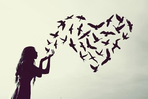 be love, birds, breathe, exhale, exhale love - inspiring picture on Favim.com