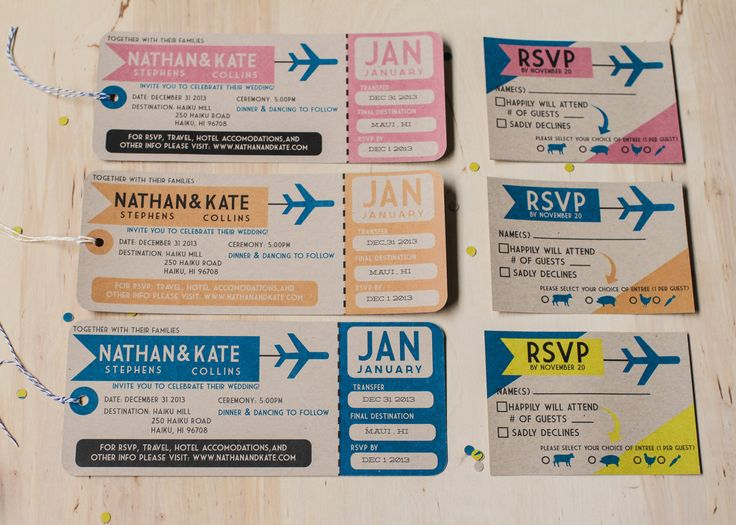 Wedding Invitations Like Plane Tickets New Wedding – Airplane Ticket Invitations