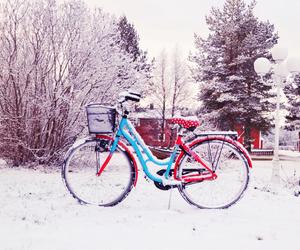 winter bike snow