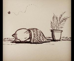 kitten sleep pencil