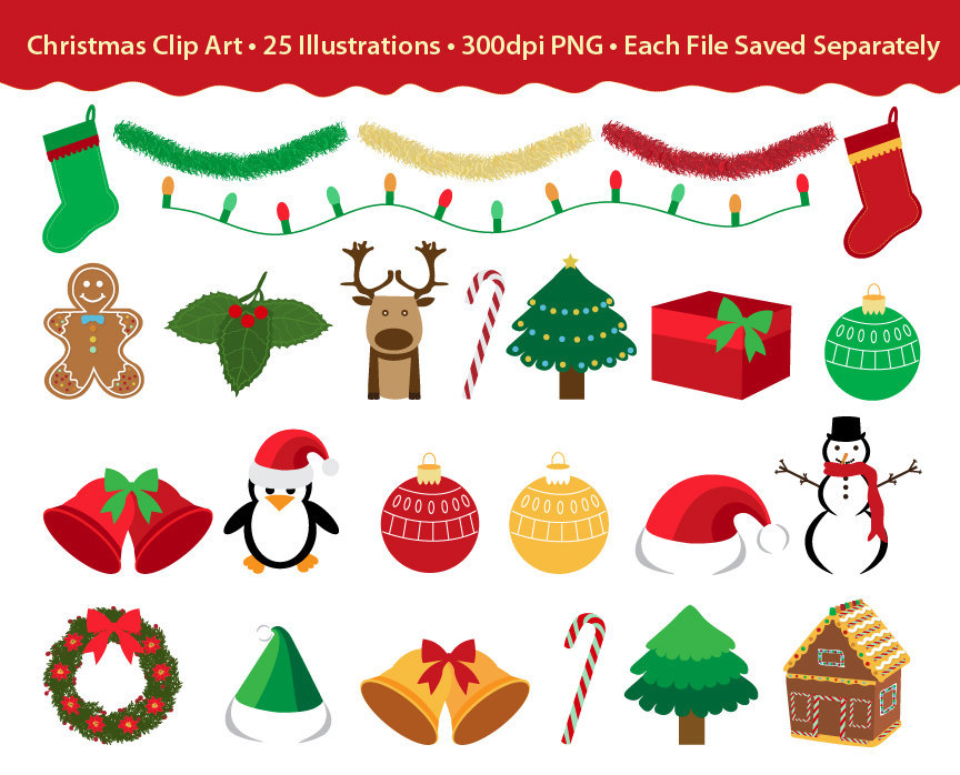 Christmas Clip Art, holiday images, clipart design ...