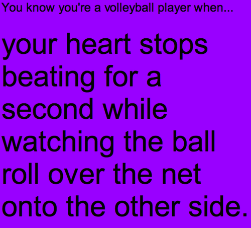 You know you re a volleyball player when      We Heart ItYou Know Youre A Volleyball Player When Tumblr