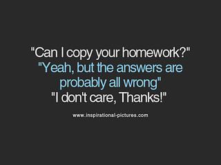 answers, care, copy, homework, quote - inspiring picture on Favim.com