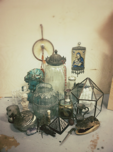 Moon to Moon: Vintage glass Apothecary bottles....