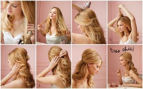 Причёски на праздник своими руками на средние волосы