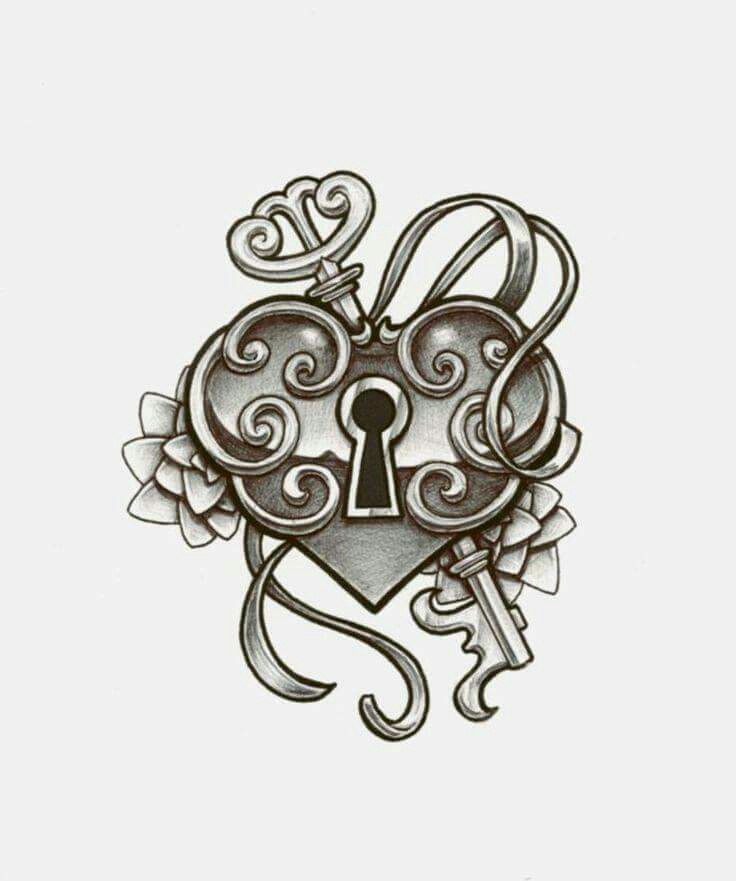 Heart Lock & Key Drawing by Amy Melampy | WHI