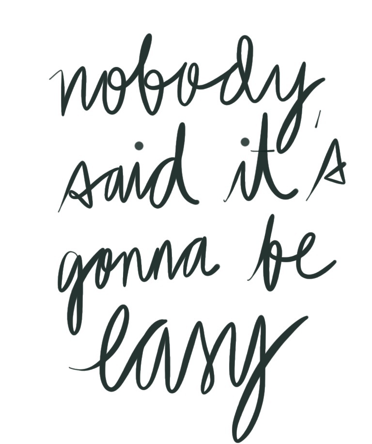 It s not easy we heart black quotes and calligraphy