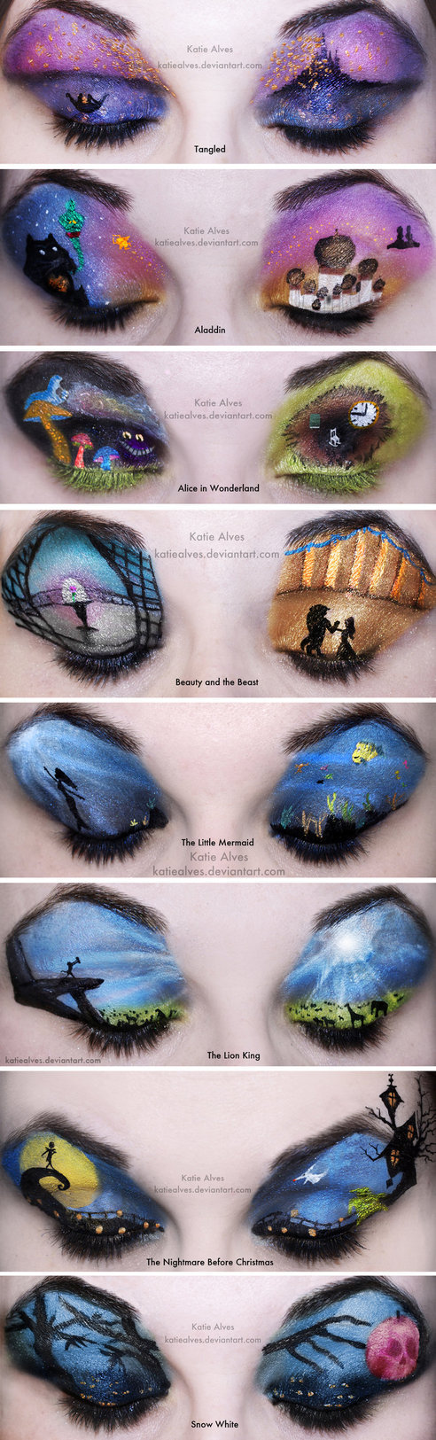 Entire Disney Make-up Collection... So Far by =KatieAlves