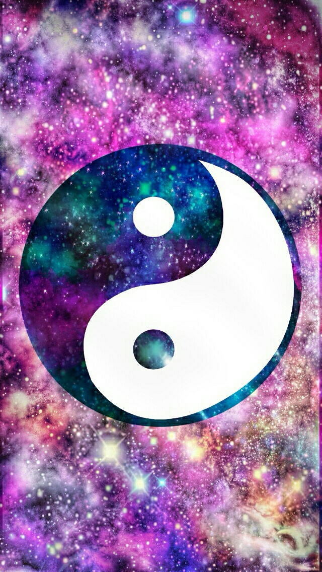 ying yang galaxy wallpapercocoppa by jay we heart it