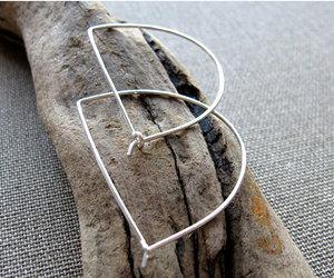 modern letter d earrings