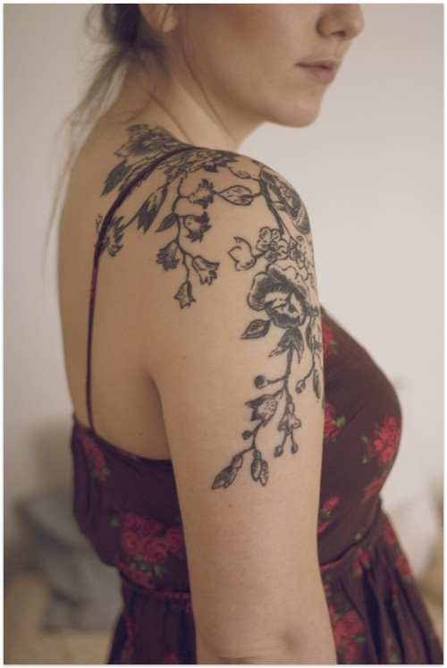 body and ink pretty flower tattoo