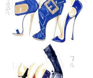 moda zapatos ilustracion