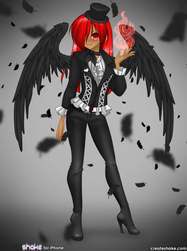 Anime girl red hair image by jamie lovely on photobucket - Anime girls with fire ...