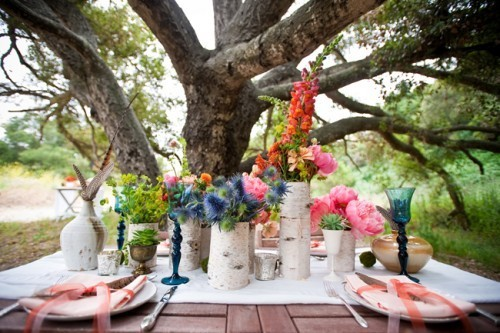 Wedding Ideas birch bark vases