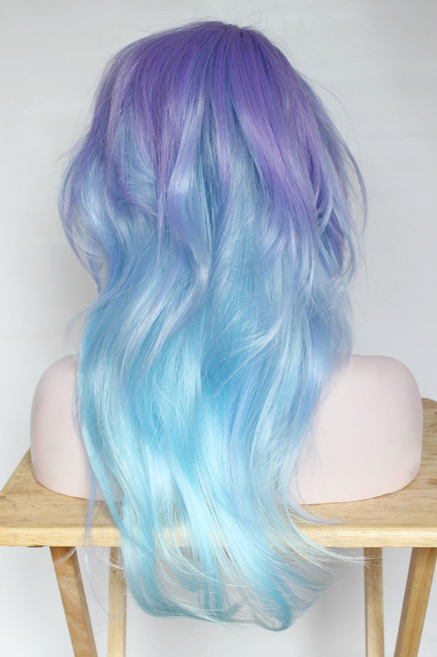 blue and purple wavy - photo #36