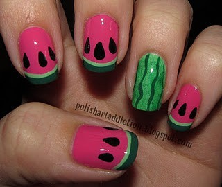 Beauty ~ Nails / That would be cute during the summer...