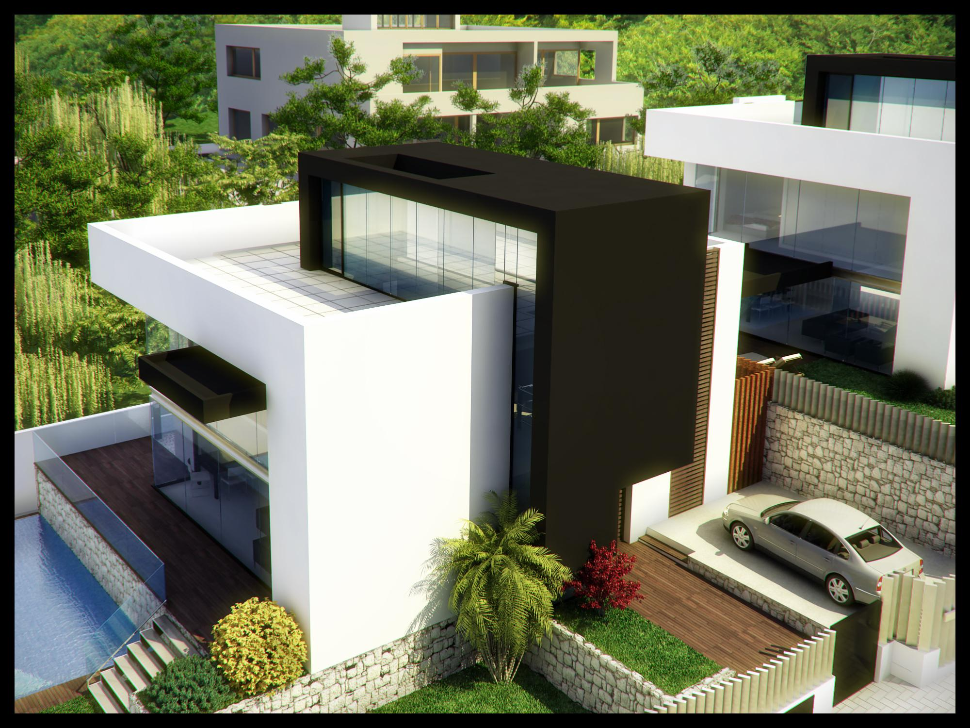 Modern villa house design modern house for Modern villa house design