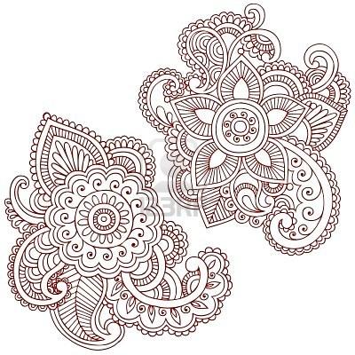 6807548 hand drawn abstract henna mehndi paisley doodle illustration