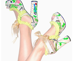 shoes flowers art fashion