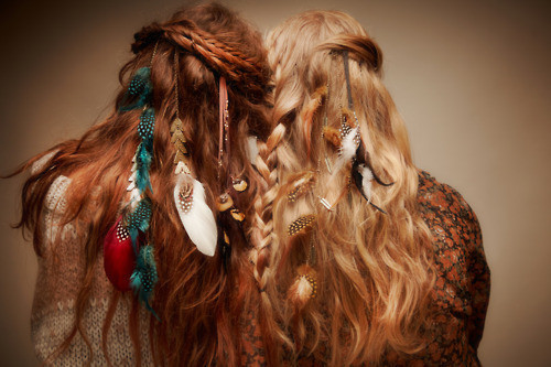 TRIBAL FEATHER HAIR CLIPS Available In