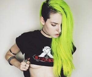green hair