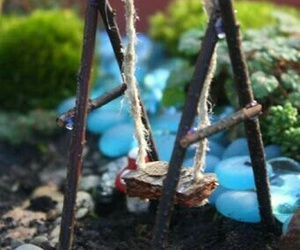 diy cute swing garden