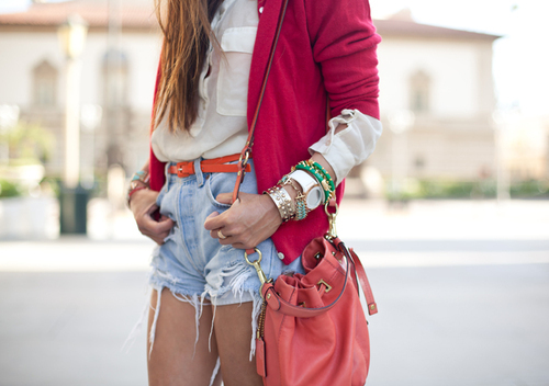 bracelets, fashion, outfit, short, style - inspiring picture on Favim.com