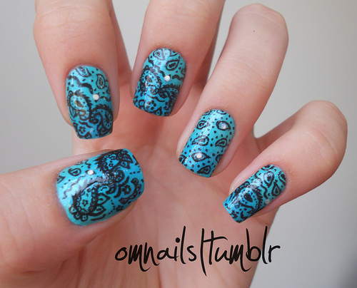bandana nail art | Flickr – Compartilhamento de fotos!