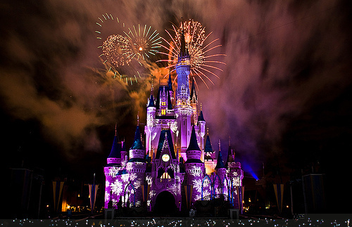 Amazing Awesome Beautiful Castle Disney Light Lights Night Place Style - PicShip