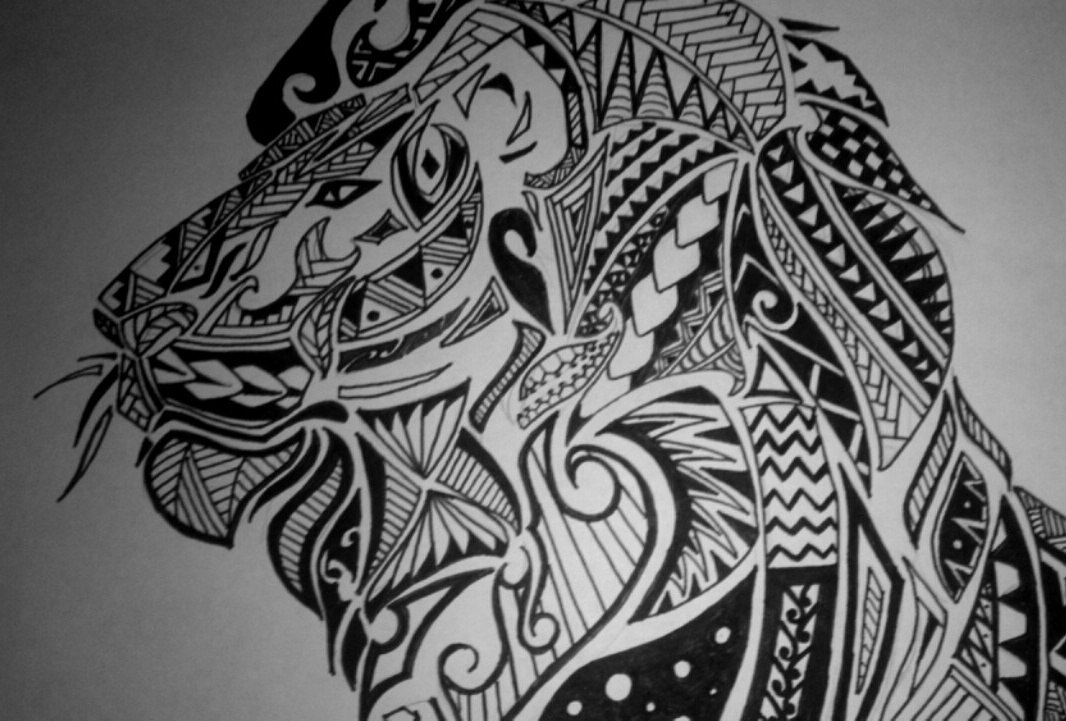 Maori Inspired Lion Tattoo Design Feel Free To Share By