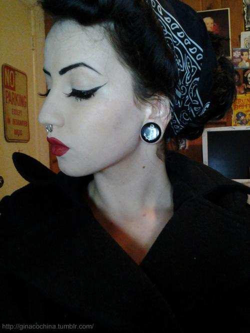 Girls with Black Hair and Plugs