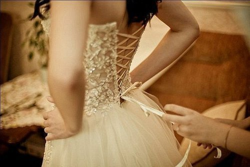 corset, dress, gorgeous, lace, wedding - inspiring picture on Favim.com