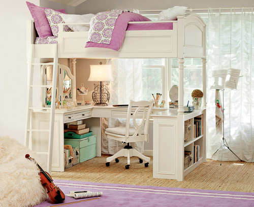 Loft Bunkbeds & Medallion Loft Bedroom | PBteen | We Heart It