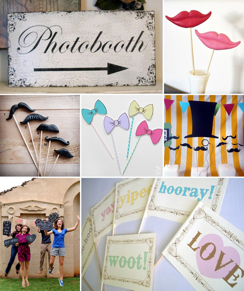 {Wedding Inspiration} A Few DIY Ideas For Your Wedding Photo Booth ♥ The Broke-Ass Bride: Bad-ass Wedding Inspiration on a Broke-Ass Budget