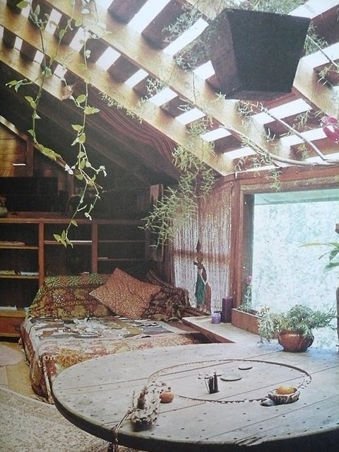 bed, gypsy, house, plants - inspiring picture on Favim.com