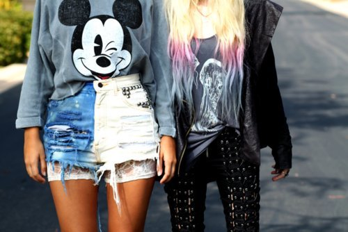 Clothes-cool-dip-dye-mickey-mouse-shorts-favim.com-286283_large