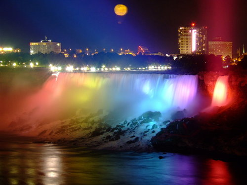 Niagara Falls Night by ~PrimalOrB on deviantART