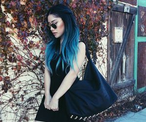 black and blue hair by arwiin on we heart it