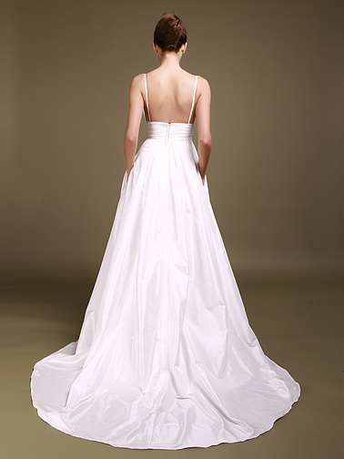 laceempirewaistbandbacklessalinestylechapeltrainweddingdresses