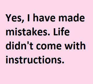 instructions, life, mistakes, pink, text - inspiring picture on Favim.com