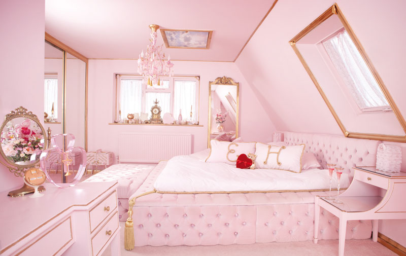 lovely cute pink bedroom   Pink room pink love for ever   We Heart It   pink, room ...