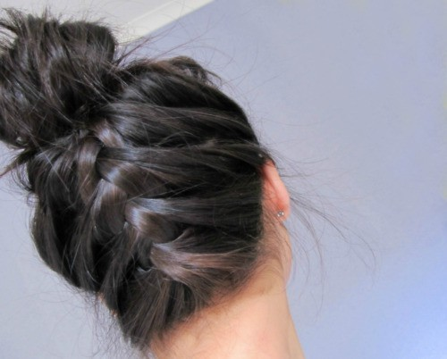 braid, bun, hair - inspiring picture on Favim.com