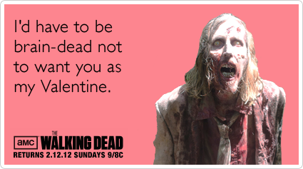 walking dead valentines day cards printable