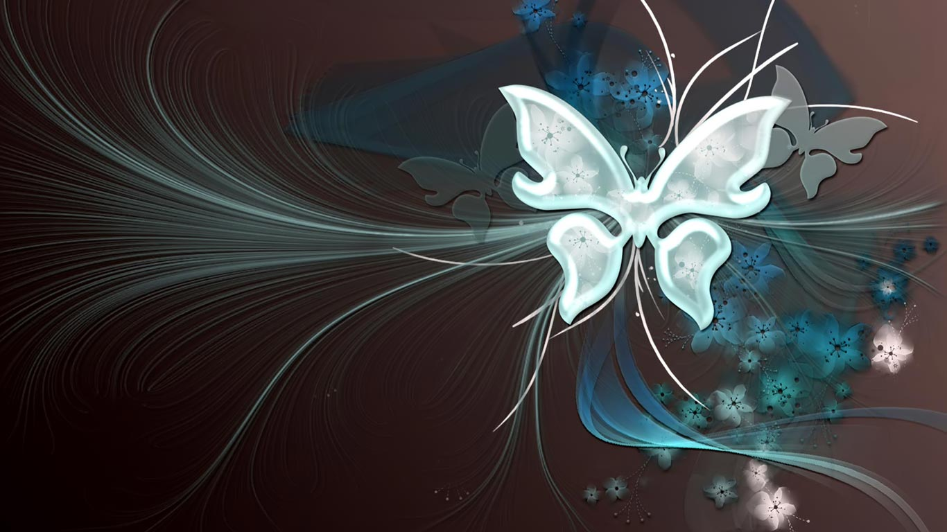 Widescreen HD Wallpaper > Hd 1366x768 > Butterfly Vector
