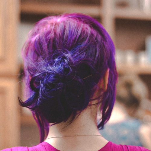 colorful hair, hair, purple hair - inspiring picture on Favim.com