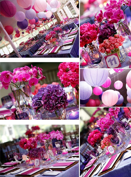 Styling Your Wedding Bold Wedding Colors ChezWedd